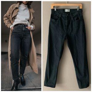 Everlane | High Waist Straight Jean | Washed Black